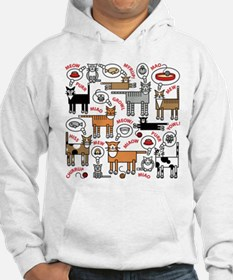 Cats Thinking Hoodie