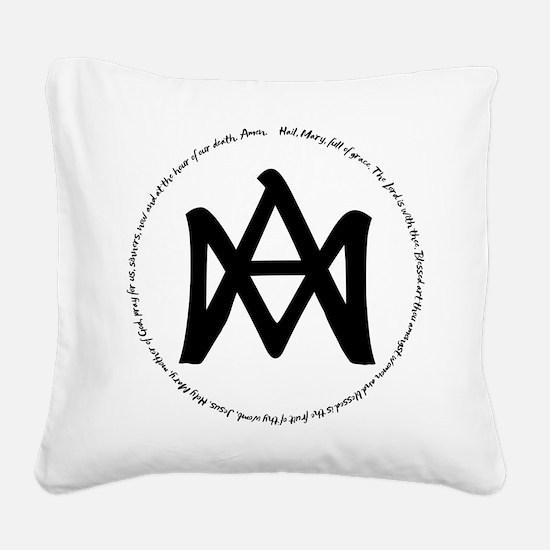 Auspice Maria Square Canvas Pillow