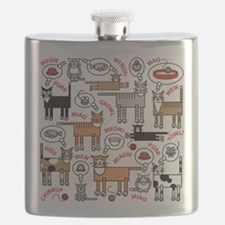 Cats Thinking Flask