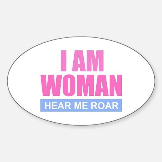 I Am Woman - Hear Me Roar Decal