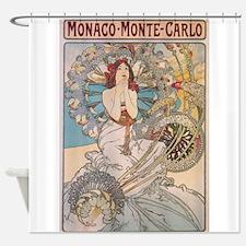 Monaco, Monte-Carlo, Mucha, Vintage Poster Shower