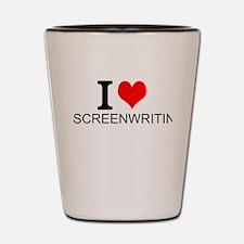I Love Screenwriting Shot Glass