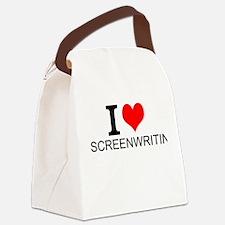 I Love Screenwriting Canvas Lunch Bag