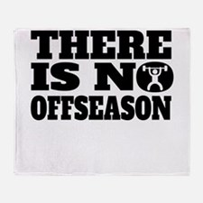 There Is No Offseason Weightlifting Throw Blanket