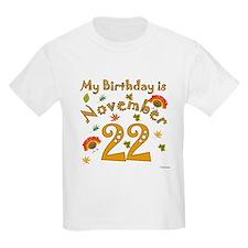 Thanksgiving November 22nd Birthday T-Shirt