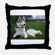 Malamute Dog Alaska US Throw Pillow