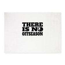 There Is No Offseason Hockey 5'x7'Area Rug