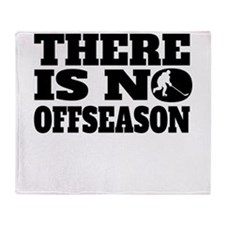 There Is No Offseason Hockey Throw Blanket