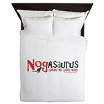Eggnog - Nogasaurus Queen Duvet
