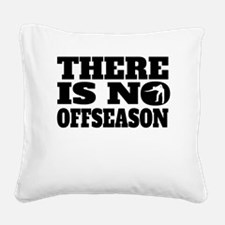 There Is No Offseason Billiards Square Canvas Pill