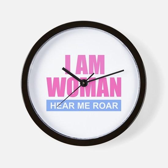 I Am Woman - Hear Me Roar Wall Clock