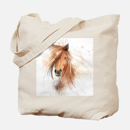 Horse Painting Tote Bag