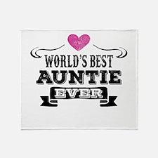 World's Best Auntie Ever Throw Blanket