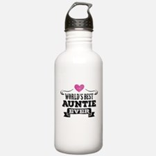 World's Best Auntie Ever Water Bottle