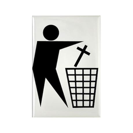 Trash Religion (Christian Version) Rectangle Magne