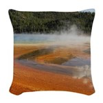 Grand Prismatic Spring Yellowstone Woven Throw Pil