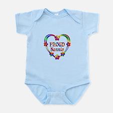 Proud Nannie Heart Infant Bodysuit