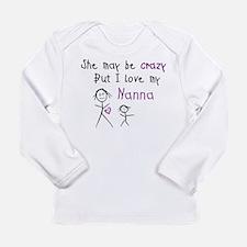 Crazy Nanna Long Sleeve T-Shirt