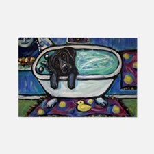 Cute Labrador retriever famous art Rectangle Magnet
