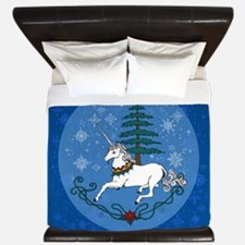 Holiday Unicorn King Duvet