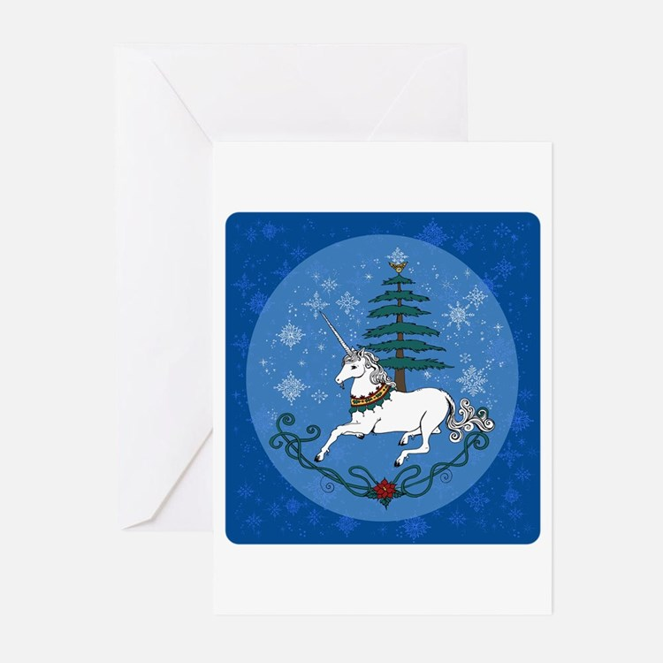 Holiday Unicorn Greeting Cards