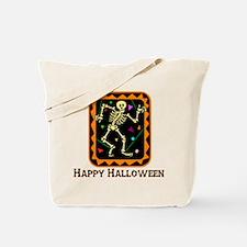 Happy Halloween Skeleton Tote Bag