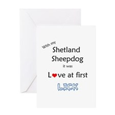 Sheltie Lick Greeting Card