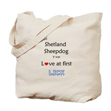 Sheltie Lick Tote Bag