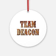 TEAM DEACON Round Ornament