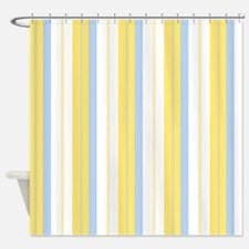 Yellow And Blue Shower Curtains
