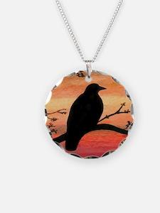 Bird 46 crow raven Necklace
