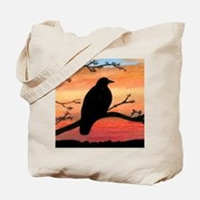 Bird 46 crow raven Tote Bag