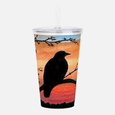 Bird 46 crow raven Acrylic Double-wall Tumbler