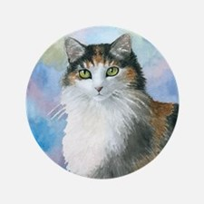"""Cat 572 Calico 3.5"""" Button (100 pack)"""