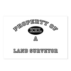 Property of a Land Surveyor Postcards (Package of