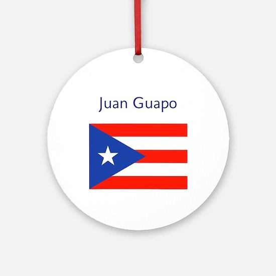 Juan Custom Puerto Rican Flag Round Ornament