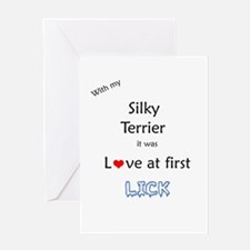 Silky Lick Greeting Card
