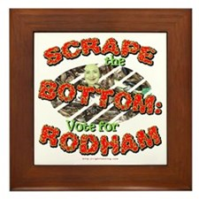 Scrape Bottom anti-Hillary Framed Tile