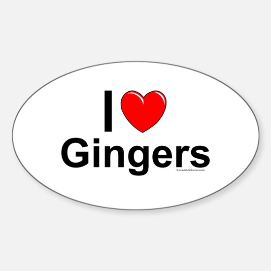 Gingers Sticker (Oval)
