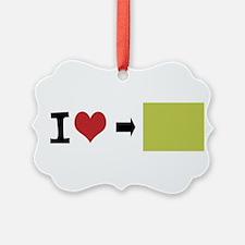 Customize Photo I heart Ornament