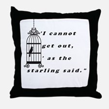 Mansfield Park Quote Throw Pillow