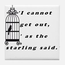 Mansfield Park Quote Tile Coaster