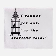 Mansfield Park Quote Throw Blanket