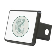 Largemouth Bass Fish Oval Etching Hitch Cover