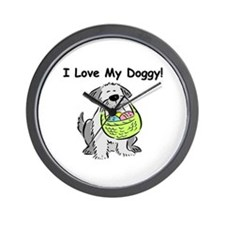 I Love My Doggy Wall Clock