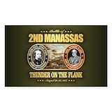 Civil war battles Stickers