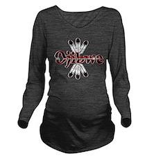 Funny Native american indian animal symbols Long Sleeve Maternity T-Shirt