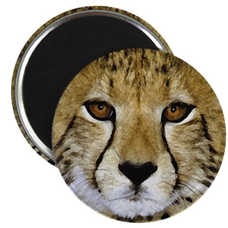"Cheetah Face 2.25"" Magnet (100 pack)"