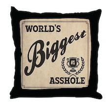 World's Biggest Asshole Throw Pillow