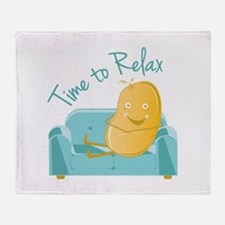 Time To Relax Throw Blanket
